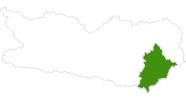 Karte der Langlaufgebiete am Klopeiner See - Südkärnten