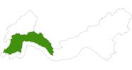 Karte der Langlaufgebiete in Antalya