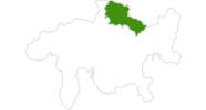 Karte der Langlauf im Prättigau