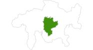 Karte der Langlaufgebiete in Savognin Bivio Albula