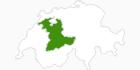 Karte der Langlaufgebiete in der Bern Region
