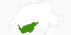 Karte der Langlaufgebiete im Wallis