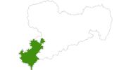 Karte der Langlaufgebiete im Vogtland