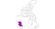 map of all lodging in British Columbia