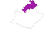 Karte der Unterkünfte in Hautes-Alpes