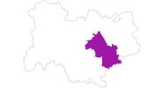 Karte der Unterkünfte in Isère