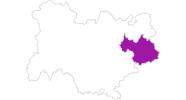 Karte der Unterkünfte in Savoyen