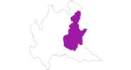 Karte der Unterkünfte in Brescia