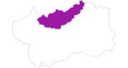 Karte der Unterkünfte in der Grosser Sankt Bernhard Region