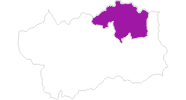 Karte der Unterkünfte in der Matterhorn-Region
