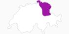 Karte der Unterkünfte in der Ostschweiz