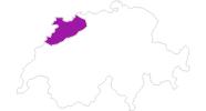 Karte der Bauernhöfe im Jura & Drei-Seen-Land