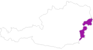 map of all lodging in the Burgenland