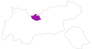 Karte der Unterkünfte in der Olympiaregion Seefeld