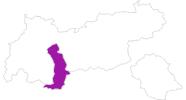 Karte der Unterkünfte Ötztal