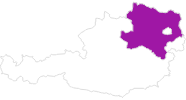 map of all lodging in Lower Austria