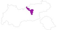 Karte der Unterkünfte in der Silberregion Karwendel