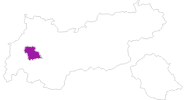 map of all lodging in Tyrol West