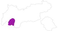 Karte der Unterkünfte im Tiroler Oberland