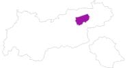 Karte der Unterkünfte in Wildschönau