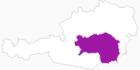 Karte der Berghütten in der Steiermark