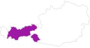 Karte der Unterkünfte in Tirol