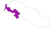 Karte der Unterkünfte Polnisches Riesengebirge