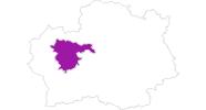 Karte der Unterkünfte in Vitosha