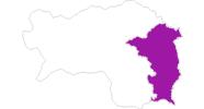 Karte der Gasthöfe im Thermenland Steiermark