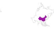 Karte der Unterkünfte in China
