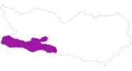 Karte der Unterkünfte in Nassfeld-Pressegger See - Lesachtal - Weissensee