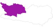 Karte der Unterkünfte im Oberdrautal