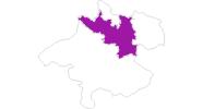 Karte der Unterkünfte in Donau Oberösterreich