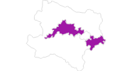 map of all lodging in Donau Lower Austria