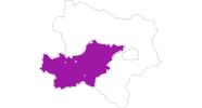 Karte der Unterkünfte im Mostviertel