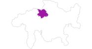 Karte der Unterkünfte in Chur