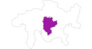 Karte der Unterkünfte in Savognin Bivio Albula