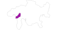 Karte der Hotels in Vals