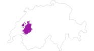 map of all lodging in the Fribourg region