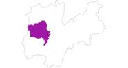 Karte der Unterkünfte in Madonna di Campiglio, Pinzolo, Rendena