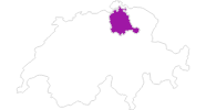 map of all lodging in the Zurich region