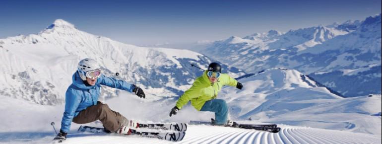 Skifahren vor einzigartiger Kulisse