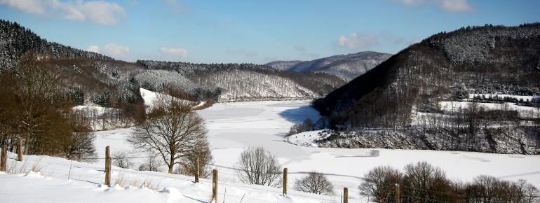 Die Eifel bietet tolle Winteraussichten.