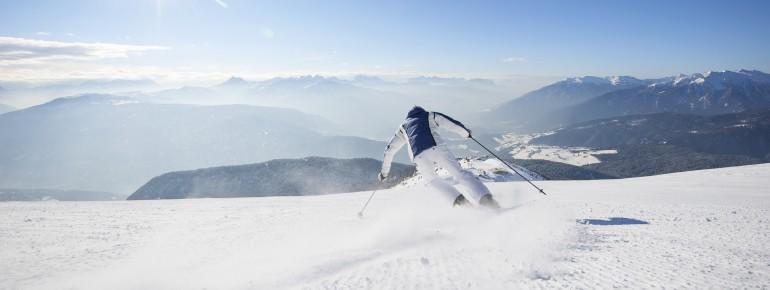 Traumhafte Aussichten beim Pistenspaß im Skigebiet Gitschberg-Jochtal