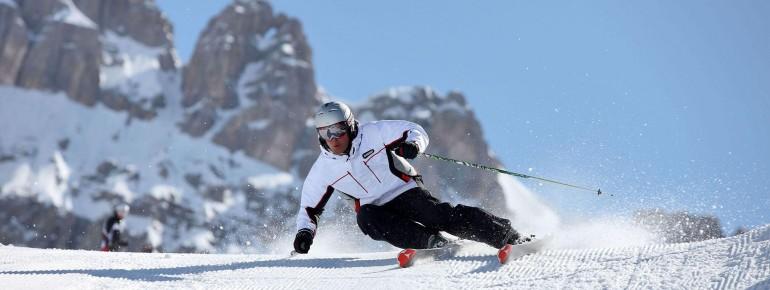 Skifahren vor beeindruckender Kulisse im Trentino