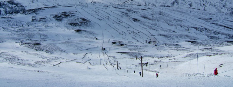 Glenshee is the most famous ski resort in Scotland.