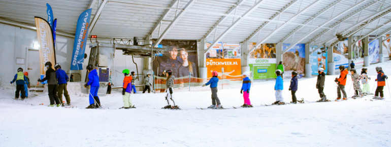 Where children learn to ski in Amsterdam? In the SnowPlanet!