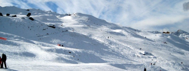 Skiing at Coronet Peak in New Zealand