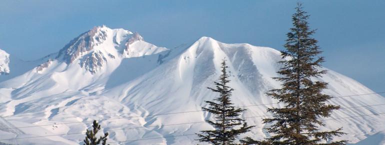 Snowy hills in Erciyces Kayseri