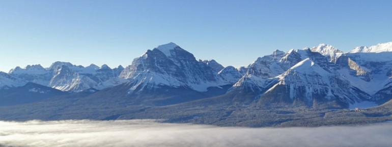 Fantastic panorama in Lake Louise, Alberta